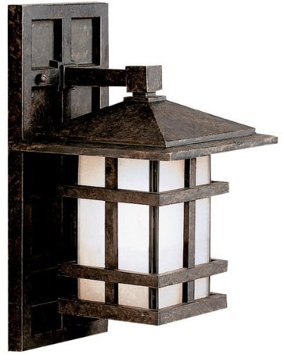 Kichler 9129AGZ Cross Creek Outdoor Wall 1-Light, Aged Bronze