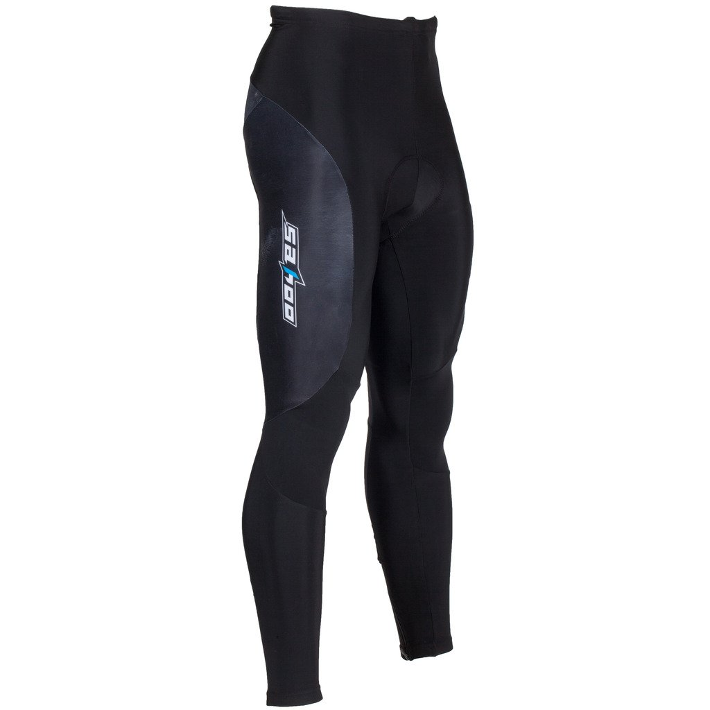 Tofern Winter Man Thermo Rad Hose 3D-Kissen Reithose 3D Pants Fleece gepolstert für Radfahren Wandern Camping Running Outdoor – schwarz
