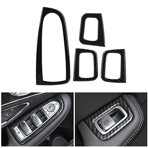 Car Electronics & Accessories Accessories Acouto Car Window Lift Button Switch Cover Trim Car Styling Decoration Frame for Mercedes Benz C Class W205