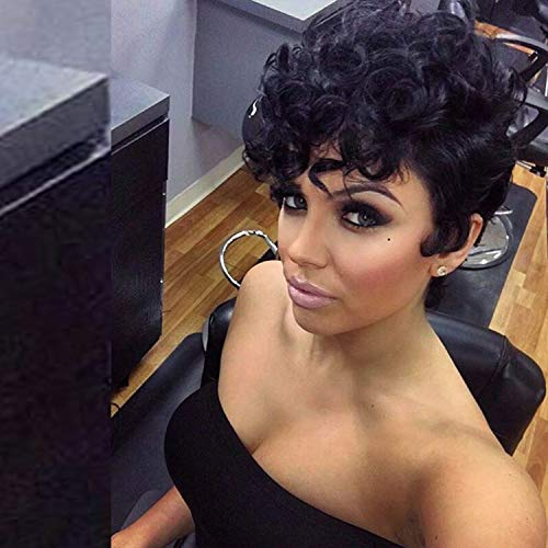 Short Black Curly Wig for Black Women Synthetic Replacement Hair Wig Halloween Cosplay Wigs