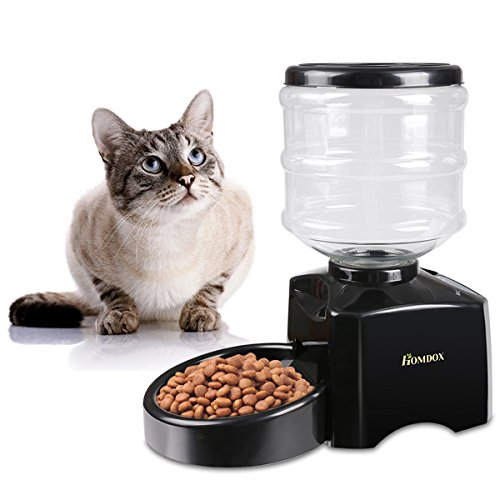 Homdox 5.5 Liter Large ABS Material Automatic Pet Feeder Dog Cat Dry Food Portion Control