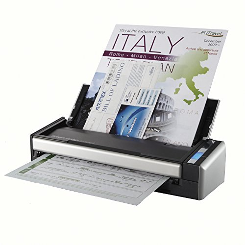 Fujitsu ScanSnap S1300i Portable Color Duplex Document Scanner for Mac and PC (Best Small Office Scanner)