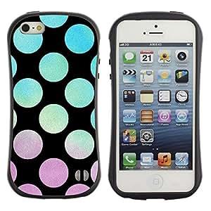 Suave TPU GEL Carcasa Funda Silicona Blando Estuche Caso de protección (para) Apple Iphone 5 / 5S / CECELL Phone case / / Vibrant Violet Teal Sunset Pattern /