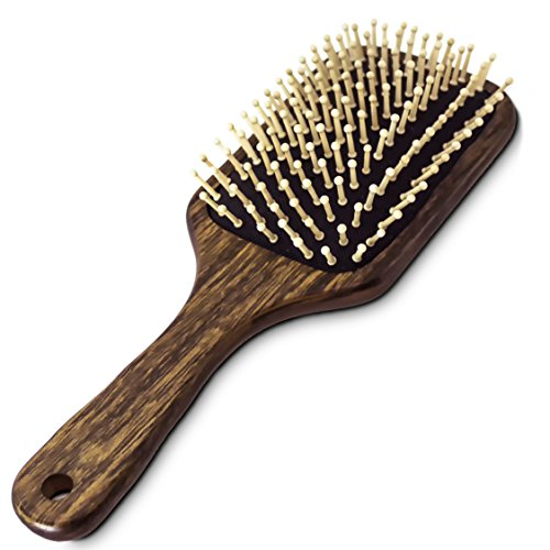 BeautyFrizz Eco Paddle Brush, Non-Irritating Wooden Hair Bru