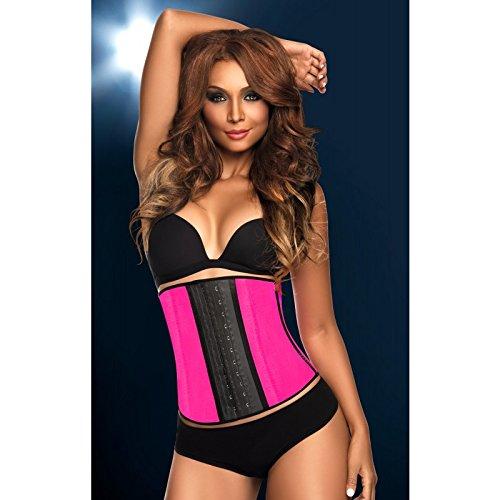 Ann Chery - Deportiva Latex Waist Trainer/Cincher - Neon Pink - Size XS/30