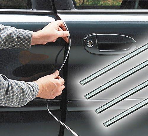 door protection with style Chrome door trim T/ürschutz mit Stil 4 St/ück Chrom T/ürverkleidung 4 pcs.|