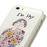 Iphone 6 Plus 6s Plus Case Heavy Duty Durable TPU Bumper Back Cover Shy Girl