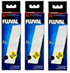 3 x Fluval U3 Poly Carbon Cartridge 2...