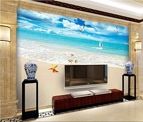Malilove 3d wallpaper mural personalizado foto Mar gaviota ...
