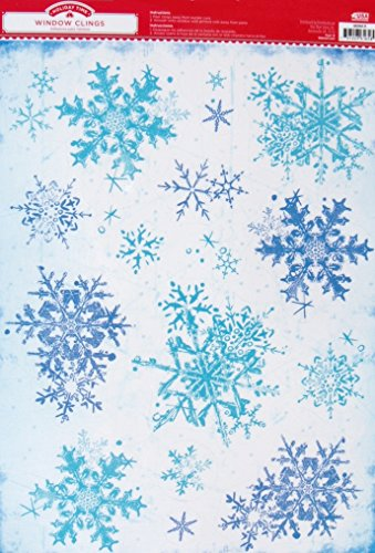 Holiday Time Christmas Window Clings - Snow Flakes