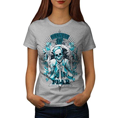 Harvest Of Fear Boss Skull Suit Women NEW L T-shirt | Wellcoda (Mob Boss Tie)