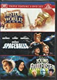 HISTORY OF THE WORLD PART I, SPACEBALLS, AND YOUNG FRANKENSTEIN MEL BROOKS TRIPLE FEATURE 3-DVD SET!