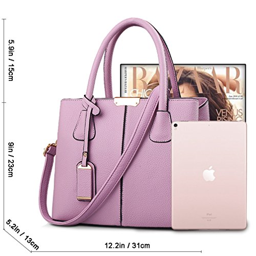 Bag Tote COCIFER Handle Handbags Messenger Shoulder Bags Top Women Purple Purse Satchel Ewwrx0YA