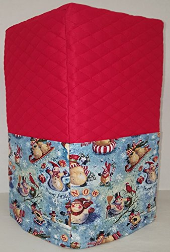 Christmas Snowman Bread Machine Cover (Red)