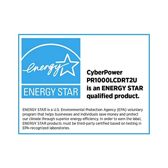 CyberPower Smart App Sinewave UPS 7 1000VA/900W Pure Sine Wave UPS - Pure Sine Wave UPS - designed to support Active PFC power supplies and conventional power supplies Line-Interactive Topology. Full AVR Buck/Boost & GreenPower UPS 2U Rack Mount/Tower convertible. Multi-function rotatable LCD display