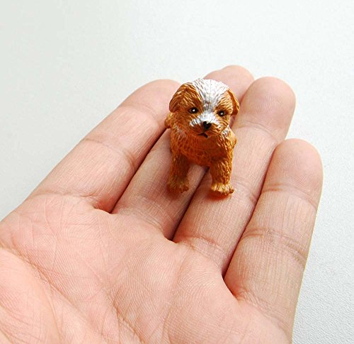Dog House Miniature - PET Sitthing Puppy Dog Cute 1/12 Dollhouse Miniature Animal