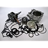 OEM Replacement Standard Bore Cylinder Kit with 12.0:1 piston and Complete Crankshaft Bottom End Kit for Yamaha YFZ 450 2006-2009 (fits YFZ 450 carburetor models only)