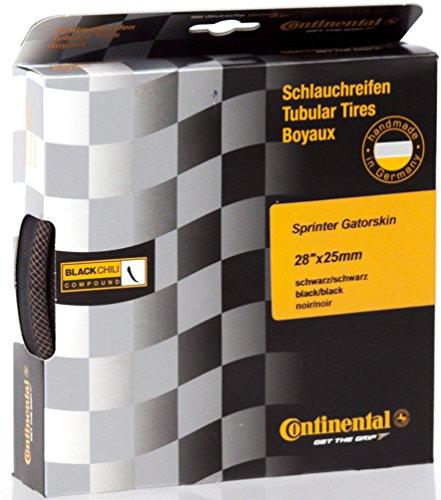 Continental Sprinter GatorSkin Tubular Road Bicycle Tire (28x22, Tubular, Black)