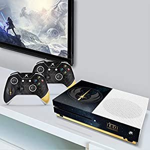 Best Epic Trends 51Sv56jXvVL._SS300_ Controller Gear Authentic and Officially Licensed Star Wars Jedi: Fallen Order - Jedi Starfield Xbox One S Console…