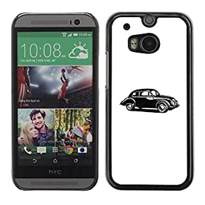 PC/Aluminum Funda Carcasa protectora para HTC One M8 Oldsmobile Car Old Retro Vintage White / JUSTGO PHONE PROTECTOR