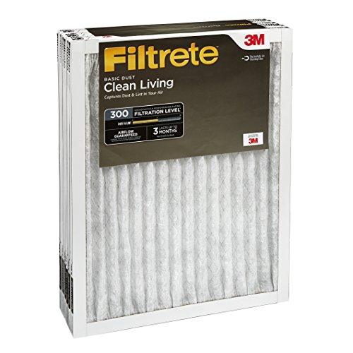 Filtrete Clean Living Basic Dust AC Furnace Air Filter, MPR 300, 14 x 20 x 1-Inches, 6-Pack by Filtrete (Image #3)