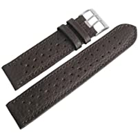 Fluco Racing 20mm Brown Leather Watch Strap