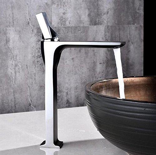Decorry Waschtischarmaturen Schwarze gemäßtes-Wannen-Mischer-Hahn Fashion Style Einhebel-Einzelne Loch-Deck Montiert Orb Kran Badezimmer B554, E
