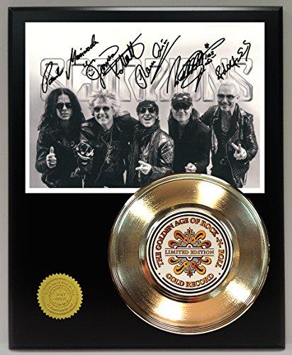 Scorpions Gold Record Reproduction Signature Series LTD Edition Display