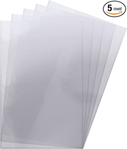 Amazon Com 5 11x17 Lithograph Topload Holders Rigid Plastic Sleeves Bcw Brand Sports Outdoors