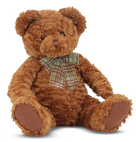 Fuzzy Teddy Bear (Melissa & Doug Chestnut - Classic Teddy Bear Stuffed Animal)