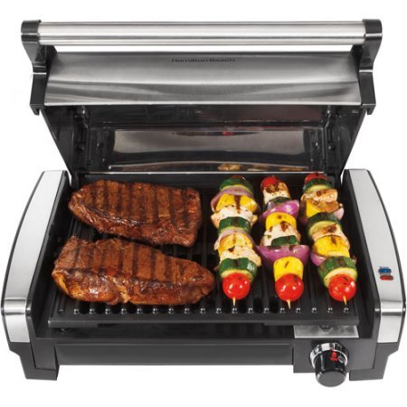 (Stainless Steel Searing Grill with Removable Nonstick Cooking)