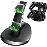 CPPSLEE PS4 Controller Charger Dock With IC ,USB Dual Charger Station Accessory with LED Indicator for Playstation 4 / PS4 Slim Pro Controller