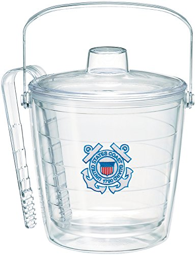 Tervis 1232841 Coast Guard Logo Ice Bucket with Emblem and Clear Lid 87oz Ice Bucket, Clear (Bucket Tervis Ice)