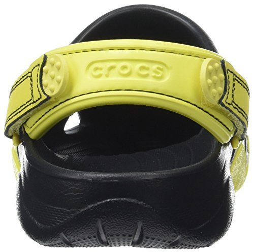 crocs Herren Swiftwater Clog Men Schwarz (Black/tennis Ball Green)