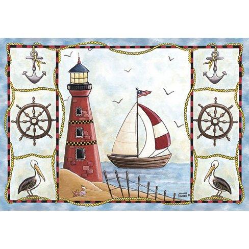 Nautical Lighthouse Rug