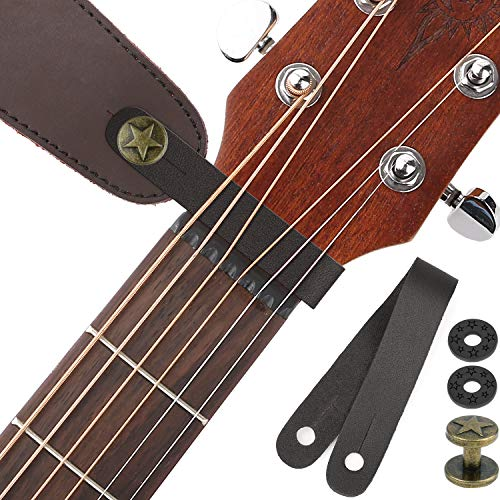Guitar Strap Locks Acoustic Guitar Strap Button Leather Headstock Adapter Strap Lock Button, Top Grade,Black