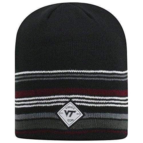 Top of the World Virginia Tech Hokies Official NCAA Uncuffed Knit Avenue Stocking Stretch Sock Hat Cap Beanie 464459 -  AVNU-VATC-UKT-3TN