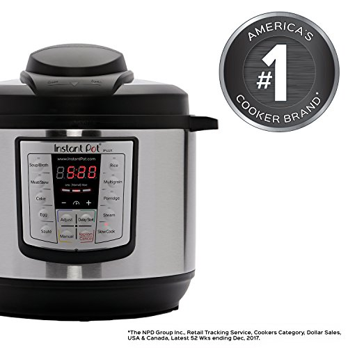 Instant Pot LUX60V3 V3 6 Qt 6-in-1 Muti-Use Programmable Pressure Cooker, Slow Cooker, Rice Cooker, Sauté, Steamer, and Warmer - smallkitchenideas.us