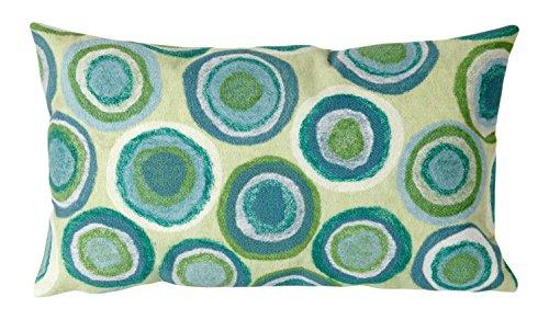 Liora Manne Mystic II Organic Circles Indoor/Outdoor pillow, Spa - 12