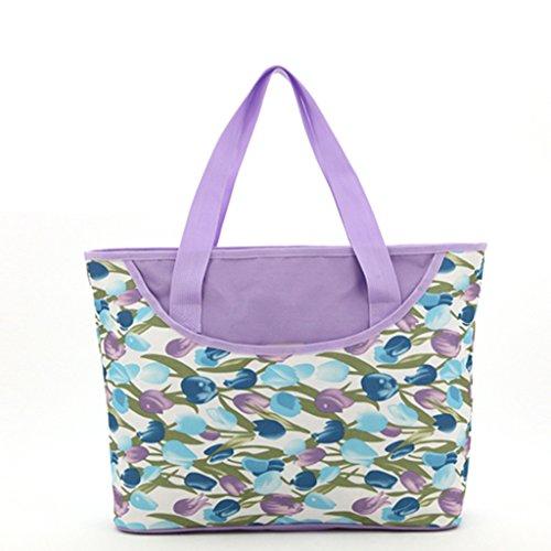 Moda Femenina Tendencia Bolsa De Hombro Bolso Messenger Mamá Ocio Bolsa De Compras Mujeres Embarazadas Paquete Grande ( Color : Dark Blue Dot ) Purple