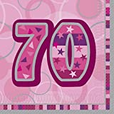 Unique Party Pink Glitz Lunch Napkins - 70 (One Size) (Pink)