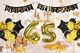 45th Birthday Decorations | Happy Bday Banner