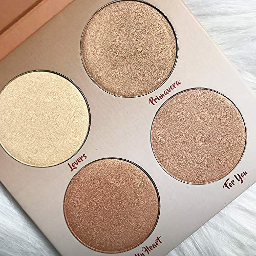 Stone Wordd midliner highlighters Aurelife 4 color Bronzer & Highlighter glow shadow makeup kit Highlighter Makeup Palette Face Contour Rainbow Highlight Soft 1
