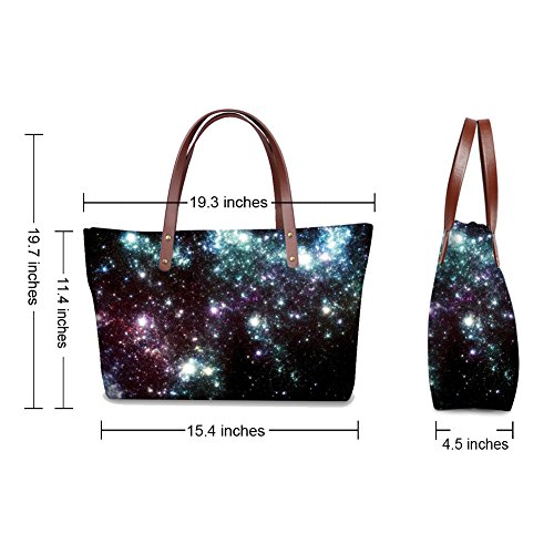 Messenger Waterproof Women Space Bags Galaxy Shopping Vividpattern Handbag Casual Galaxy Tote qP18ww