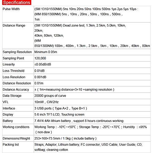 TMO300 OTDR, Optical Time Domain Reflectometer, Handheld FTTH Fiber Optic Cable Tester, FTTx Network Cable Testing Tool,Handheld OTDR, Multi-wavelength MM(850//1300nm