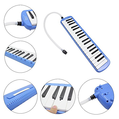 WINDMAX Blue 37 Key Melodica & Deluxe Carrying Case by WINDMAX