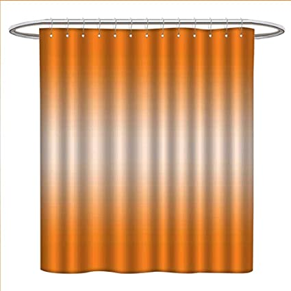Ombre Shower Curtains Mildew Resistant Beach Desert Hot Summer Inspire With Ray In Middle Orange Colored