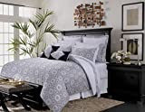 Maldives Cotton 12-Piece Bed In A Bag Set, Queen Black, Cashmere