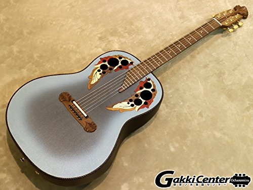Adamas Acoustic Electric Guitar (Ovation 1687GT-8 Adamas Acoustic-Electric Guitar, Reverse Blue Burst Carbon Fiber Mid Depth)