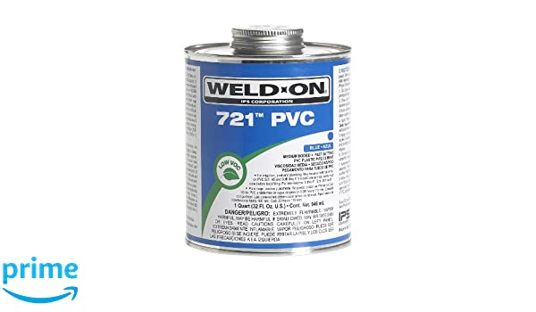 Weldon 10162 Blue 721 Medium-Bodied Pvc Professional Industrial-Grade Cement Fast-Setting Low-Voc, 1 pint, Blue: Solvent Based Adhesives: Amazon.com: ...